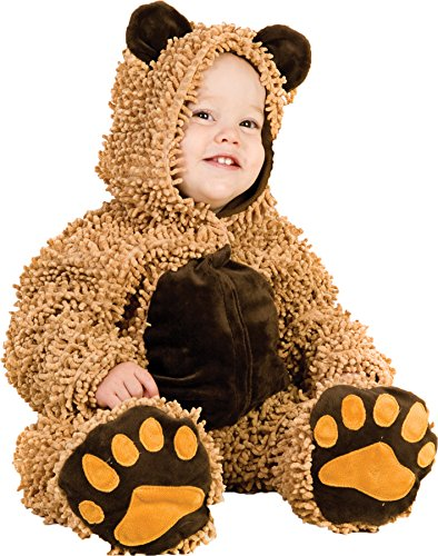 UHC Baby's Chenille Teddybear Outfit Infant Toddler Halloween Costume, 6-12M