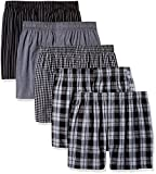 Gildan Platinum Men's Woven Boxer 5-Pack, Assorted, L