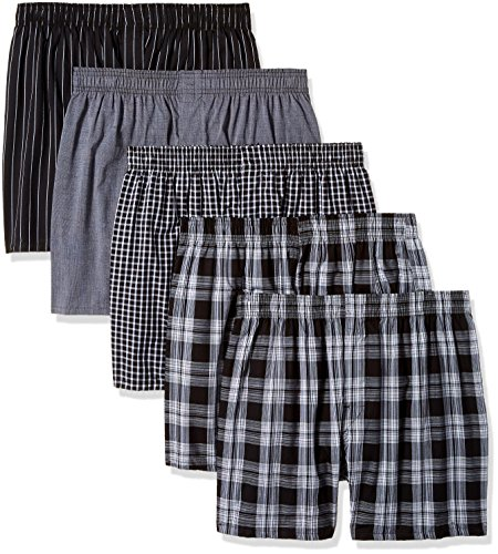 Gildan Platinum Men's Woven Boxer 5-Pack, Assorted, (Loose Pack)