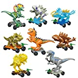 Action Figures Dinosaur Toys Dinosaur Blocks Playset Building Blocks-Great Gifts and Party Favors for Kids Adults (E)