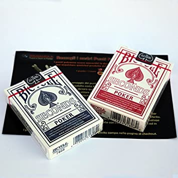 SOLOMAGIA 2 Decks of cards Bicycle - Regular Poker - Seconds - Blue and Red