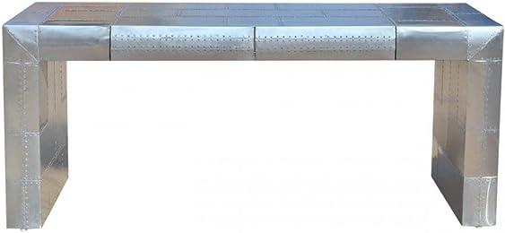 casa padrino art deco aluminium tisch flugzeug flieger mbel schreibtisch - Schreibtisch Aus Flugzeugflgel