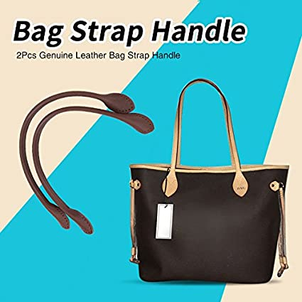 Pair Genuine Leather Purses Straps,Real Leather Purse Handles,with Ear Shape End,Punch Hole Ready,Replacement Purse Straps,Handbag Bag Wallet Straps DIY Hand Accessories Beige