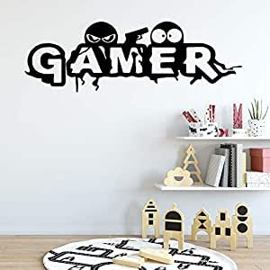 Personalizado Gamer decoración del hogar pegatinas de pared ...