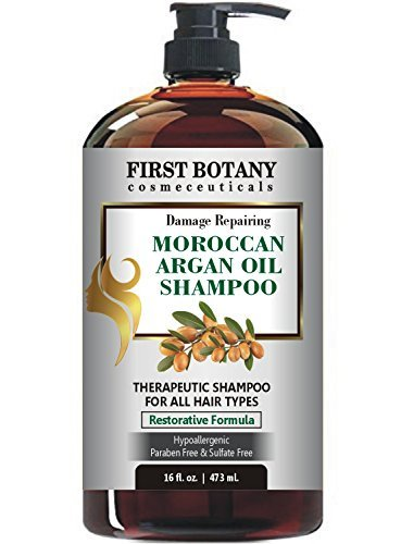 Moroccan Argan Oil Shampoo with Restorative Formula 16 fl. oz. Gentle & Sulfate Free for All Hair Types. Cleanses, Revives, Hydrates, Detangles Hair & Revitalizes the Scalp & Split-Ends