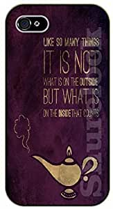 For Case HTC One M8 Cover Like so many things, it not what on the outside, Aladdin - black plastic case / Walt Disney And Life Quotes