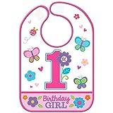 Sweet Birthday Girl Vinyl Baby Bib