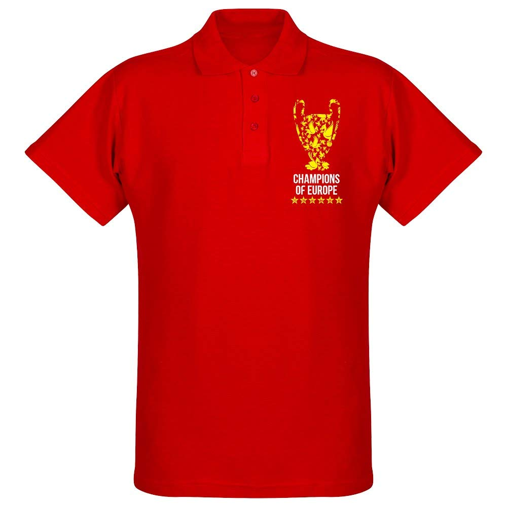 Liverpool Trophy Champions of Europe - Polo de Manga Corta, Color ...