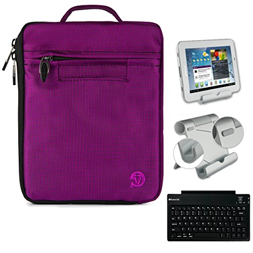Vangoddy [Plum] Compact Hydei Tablet Sleeve for Samsung Galaxy Tab A 8.0 Tablet w/ Bluetooth Keyboard and Tablet (Plum Compact)