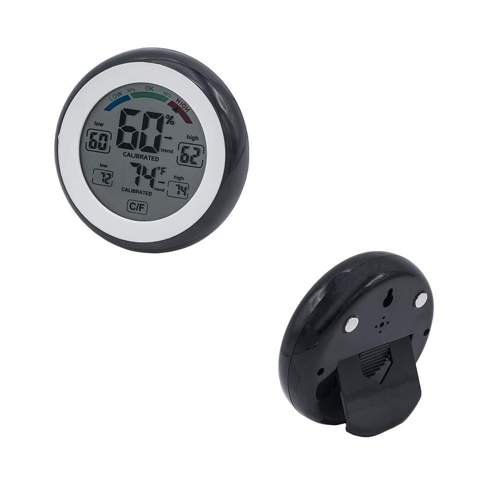 Higr/ómetro Beito con Term/ómetro Digital Humedad y Seguimiento de Temperatura Pantalla t/áctil LCD de color activo con conmutaci/ón entre C F