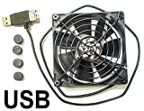 600mm fan - Coolerguys Single 92x25mm USB Fan With Grill #CG09225L05B2-U