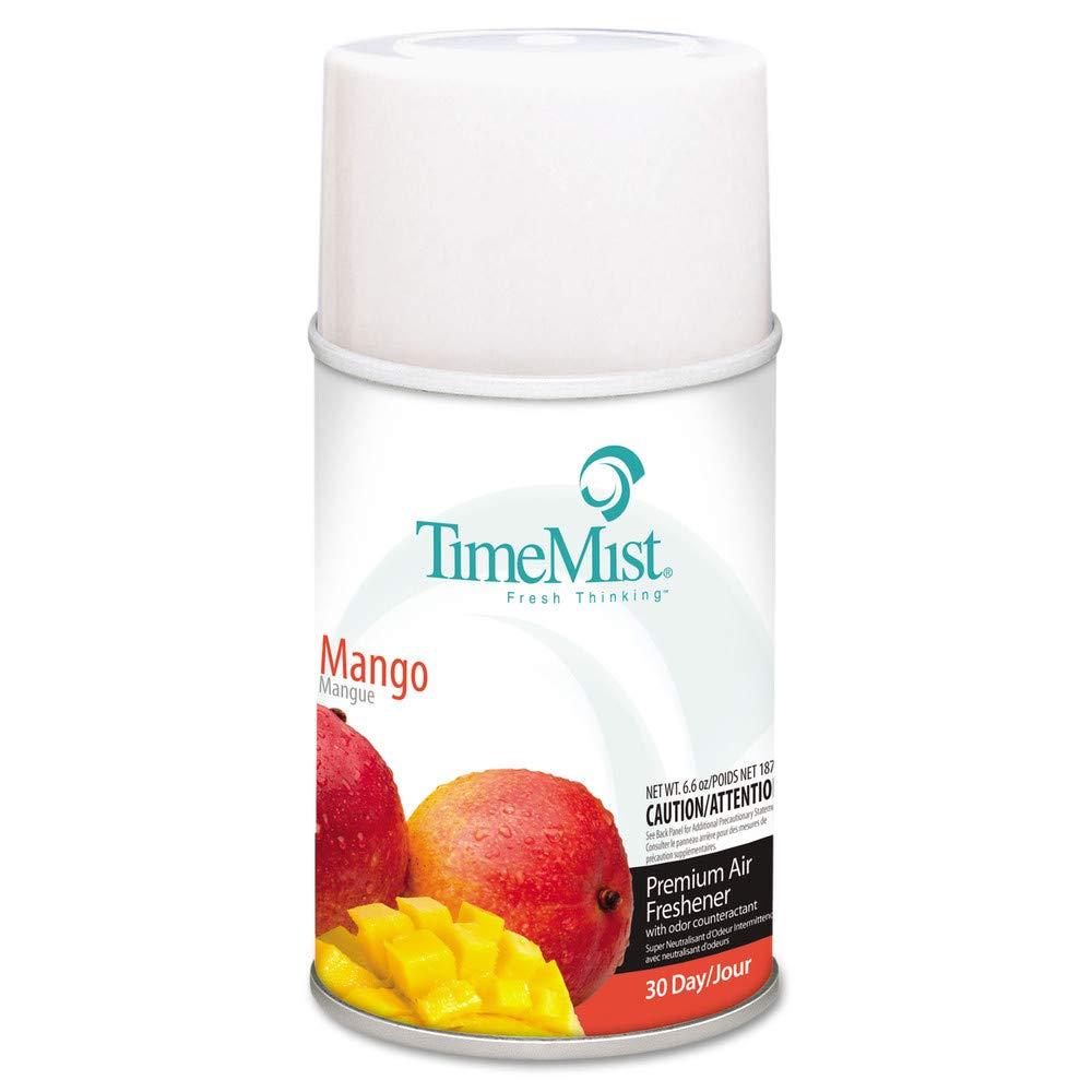 TimeMist 1042810 Metered Fragrance Dispenser Refills, Mango, 6.6oz, Aerosol, 12/carton