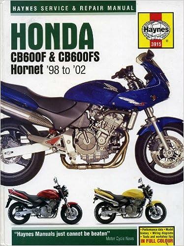 honda cb600f cb 600 f 1998 2006 bike repair service manual