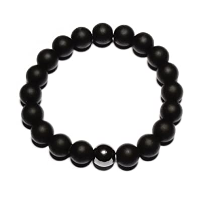 Amazon com: Shungite Protection Stretch Handmade Bracelet with