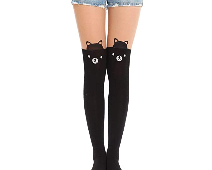 964562f4bb1 Ace Select Animal Tattoo Legging Tights for Teen Girls Japanese Style  Pantyhose Over Knee Socks for