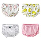 Beide Baby Girls Cotton Ruffle Bowknot Shorts 4-Pack(COLOR2,3-4T)