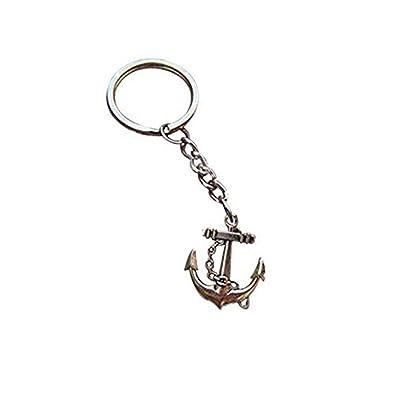 Cuerda náutica Marinero Ancla para llavero, llavero, llavero ...