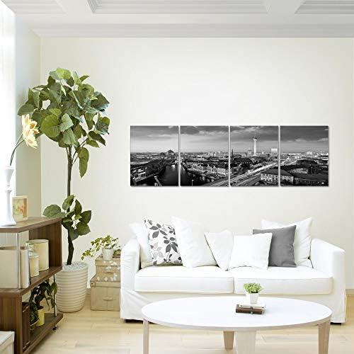 XXL Immagini Murale Stampa su Tela Decorazione da Parete Pronte per lapplicazione Quadro Citt/à di Berlino 160 x 50 cm 605146c