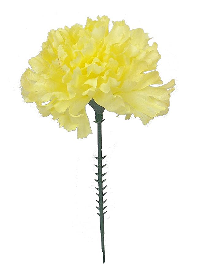 Amazon 100 carnations 5 yellow artificial silk flower pick amazon 100 carnations 5 yellow artificial silk flower pick multiple colors available home kitchen mightylinksfo