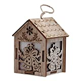 HHmei Christmas Ornaments Glowing Cabin Hotel Bar Window Display DIY Christmas Tree Decorations Outdoor Tree Table Lights Blue Home Set Silver Wall Ornaments Party Confetti 03C