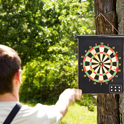 Mixi Magnetic Dart Board for Kids, Outdoor Toys Kids Games Double Sided Dart Board Games Set for Boys with 10 Darts…