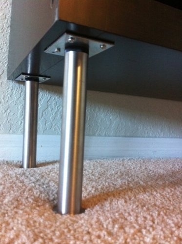 """IKEA - CAPITA Leg, Stainless Steel 6 1/4-6 3/4"""" (X4)"""