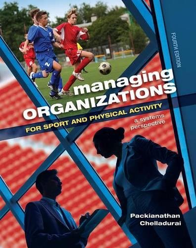 (Managing Organizations for Sport and Physical Activity: A Systems Perspective)