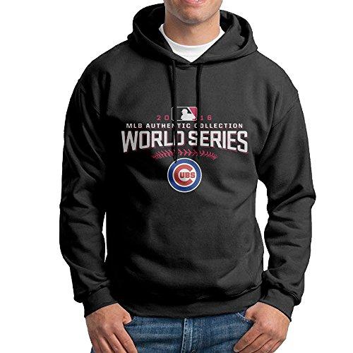 CHICAGO WORLD SERIES Champions Men's Casual Cotton Hoodies Black