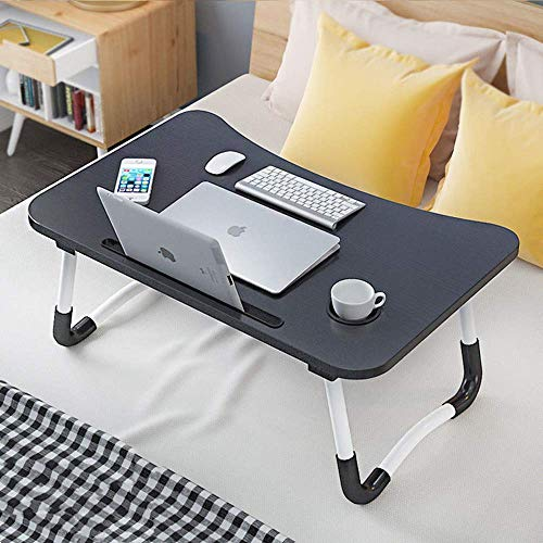 POKARI™ Folding Laptop Desk Multi-Function Elekin Laptop Bed Table Stand with Handle/Drawer/Cup Holder for Bed Sofa (Multi.)