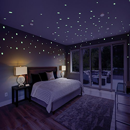 Glow in the Dark Stars for Kids: 732 Self Adhesive, Glowing Star Decal for Children's Bedrooms I Glow In The Dark Star Ceiling and Wall Stickers | 3D Glowing Dots for Nurseries, Kid Rooms, or (Big Star Crib Set)