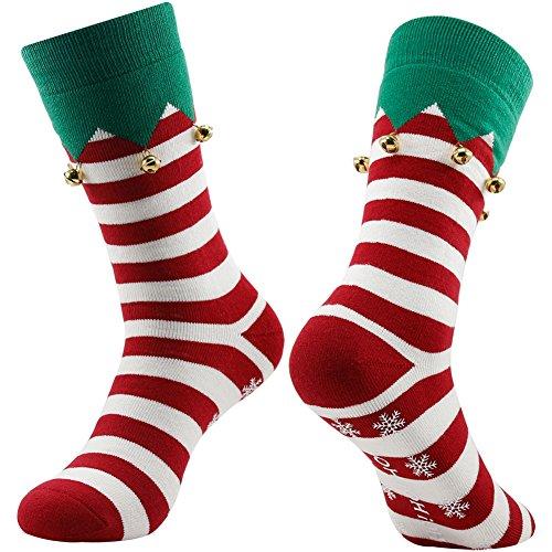 Jingle Bell Socks, Gmark Christmas Santa Socks,Unisex Cute Pattern Colorful Cotton Socks,Gift Socks (Socks Christmas)