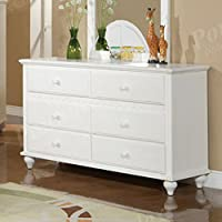 Dresser in White Finish by Poundex