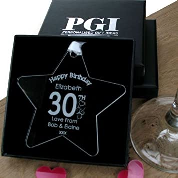 Personalised 30th Birthday Gift For Her Keepsake Womens Amazoncouk Office Products