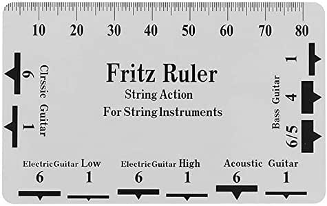 Bulufree Guitarra String Action Gauge String Pitch Regla Tarjeta ...