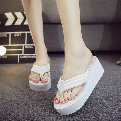 5cm Cool tacchi scarpe sandali fondo spesso spiaggia ciabatte myldy 6 antiscivolo donna con pantofole alti White da E7SOSwxaq