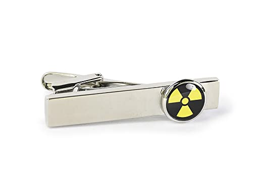 Amazon Nuclear Symbol Tie Bar Personalized Engraved Gift For