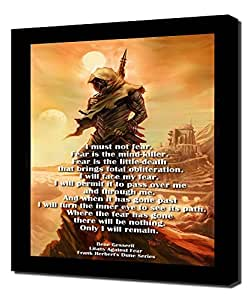 Dune - Litany Against Fear Reproduction Canvas Art Print