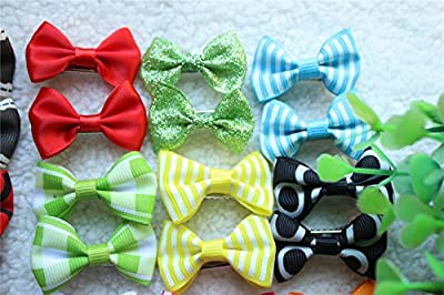 40pcs/20pairs New Dog Hair Clips Pet Grooming Products Mix Colors Varies Patterns Pet Hair Bows Dog Accessories