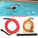 Rundaotong-US -Elastic Traction Belt Professional Swimming Training Speed Trainer Silicone Puller Water Traction Rope for Swimmer-