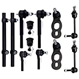 SCITOO Steering Tie Rod Adjusting Sleeves Upper Lower Ball Joints Sway Bar Link Mercury Grand Marquis Ford Crown Victoria Lincoln Town Car 1998-2002 (12Pc)