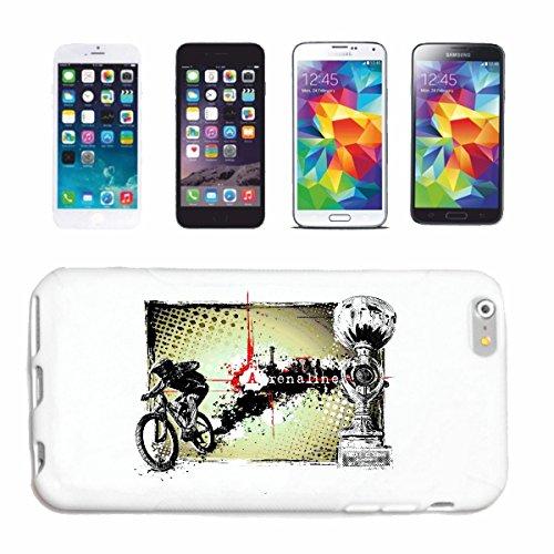 "cas de téléphone iPhone 7S ""MOUNTAIN BIKE ADRENALINE MOUNTAIN BIKE BICYCLE RÉPARATION CYCLISME SPORT BIKE TOUR VELO SHIRT"" Hard Case Cover Téléphone Covers Smart Cover pour Apple iPhone en blanc"