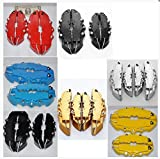 4Pcs RED 3D Rear Caliper covers Embossed Brem Fit pliers covers Car Universal Disc Brake Caliper Covers Front & Rear