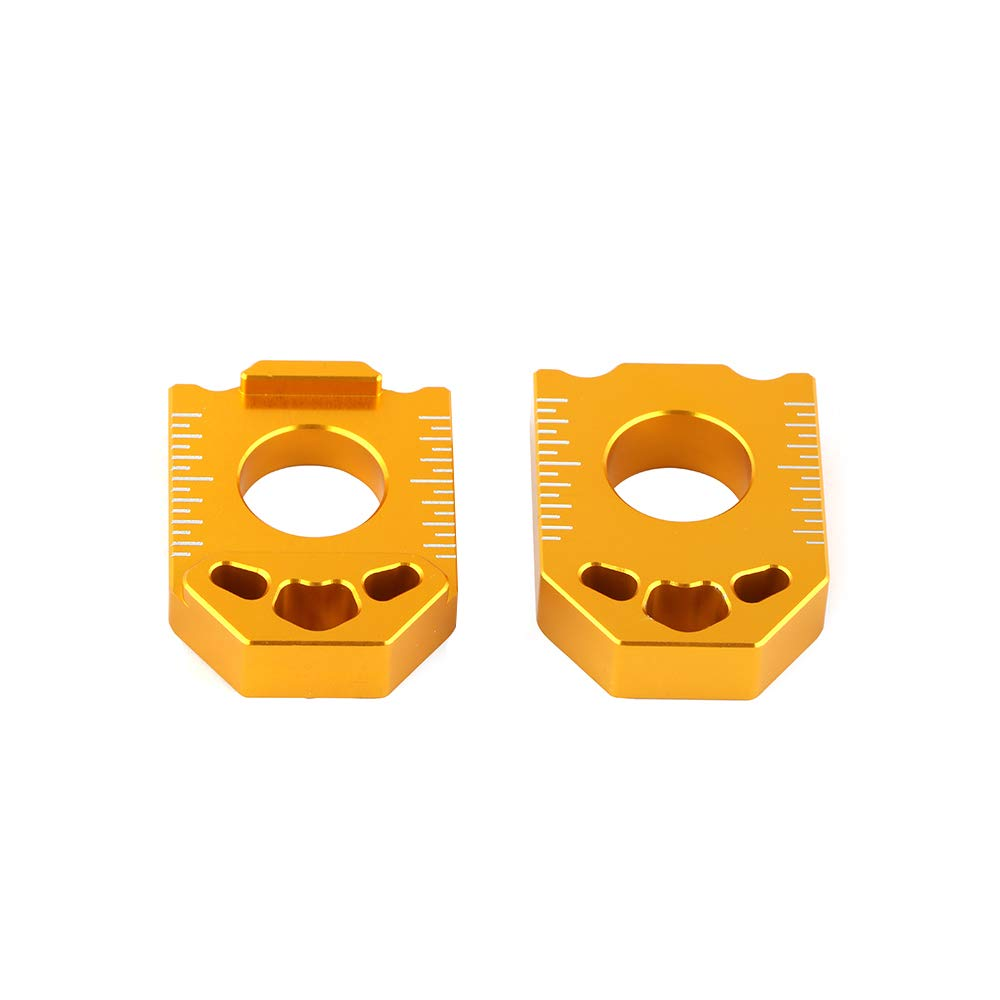 An Xin Motorcycle CNC Rear Axle Spindle Chain Adjuster Blocks For/SUZUKI DRZ400SM DRZ 400SM 2004 2005 2006 2007 2008-2015 Gold