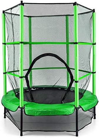 Klarfit Rocketkid trampolín de Interior y Exterior, Verde: Amazon ...