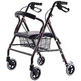 Drive Medical Rollator Walker Folding w/ 6''Wheel Basket Soft Seat Adult Health Item Ways