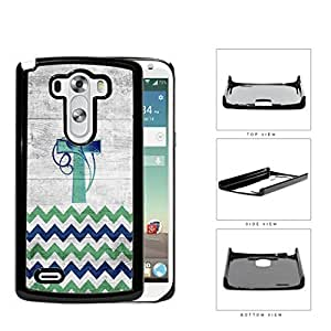 Chevron Cross And Vine Blue Green Gradient Hard Plastic Snap On Cell Phone Case LG G3