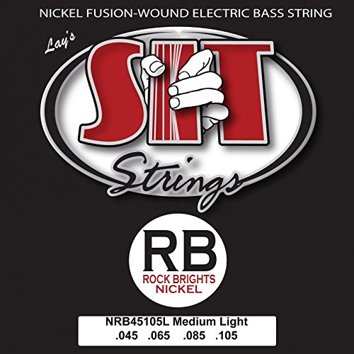 SIT Strings NRB45105L Nickel Plated Bass Guitar Strings, 4-String Medium Light (Wrap Underwrap)