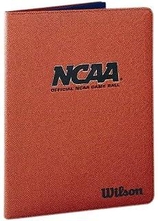 Amazon zumer sport textured basketball themed portfolio wilson ncaa basketball leather folder colourmoves