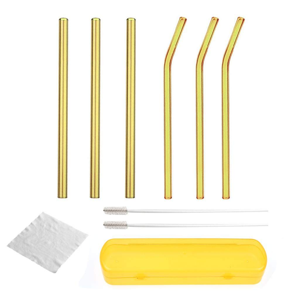 Reusable Glass Straw Drinking Straw Cleaning Brush Wedding Birthday Party Supply