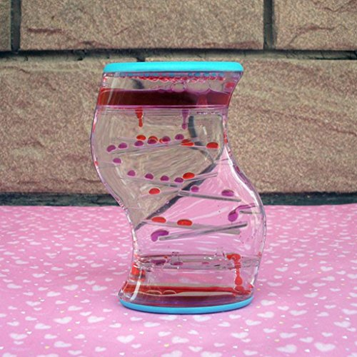 [해외]SM SunniMix 액체 모래 시계 탁상 액체 모래 부동 타이머 기름 시계 아크릴 재미 / SM SunniMix Liquid Hourglass Tabletop Liquid Sand Floating Timer Oil Watch Acrylic Funny
